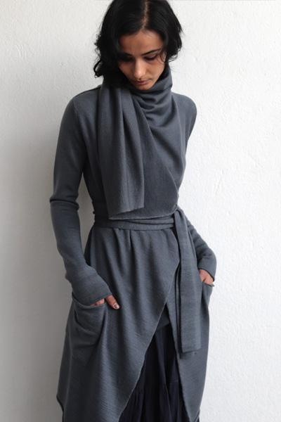 lars andersson knitwear blue grey