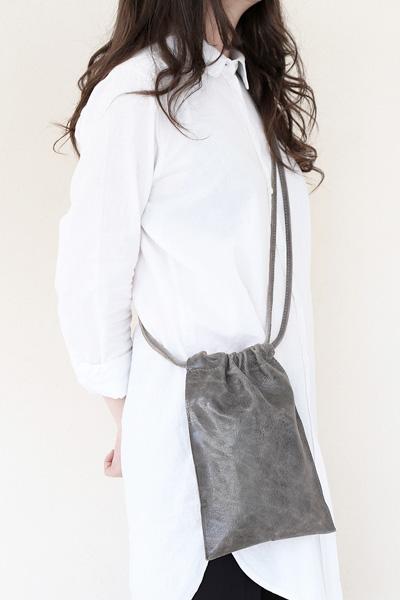 satchel bag light grey by tagliovivo